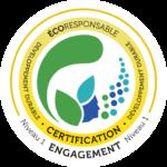 Logo certification écoresponsable niveau 1