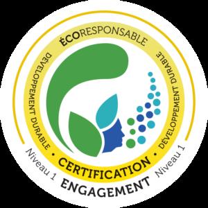 logo certification ecoresponsable niveau 1 du CID