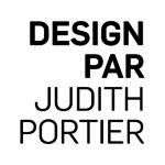 Logo blanc Design par Judith Portier